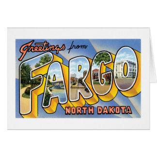 ¡Saludos de Fargo, Dakota del Norte! Tarjeta De Felicitación