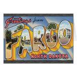 Saludos de Fargo Dakota del Norte, vintage Tarjetón