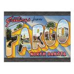 Saludos de Fargo Dakota del Norte, vintage Tarjetas Postales