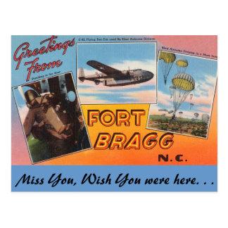 Saludos de Fort Bragg Tarjeta Postal