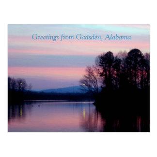 Saludos de Gadsden, AL Postal