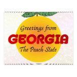 Saludos de Georgia Tarjetas Postales