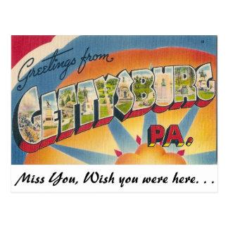 Saludos de Gettysburg, Pennsylvania Postal