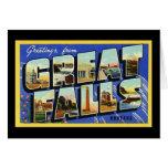 Saludos de Great Falls Montana Felicitación
