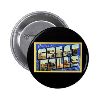 Saludos de Great Falls Montana Pins