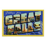 Saludos de Great Falls Montana Posters