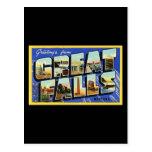 Saludos de Great Falls Montana Tarjeta Postal
