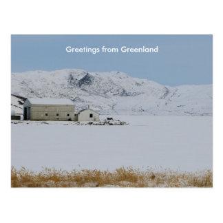 Saludos de Groenlandia 14 Postal