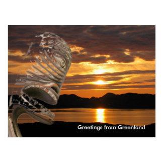 Saludos de Groenlandia 20 Postal