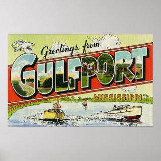 Saludos de Gulfport Mississippi Impresiones