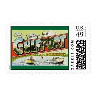Saludos de Gulfport Mississippi Franqueo