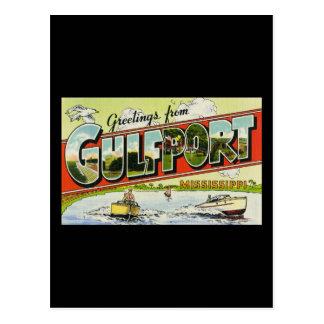 Saludos de Gulfport Mississippi Postal
