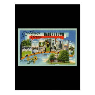 Saludos de Hagertown Maryland Postales