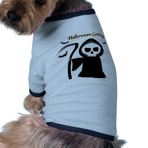 Saludos de Halloween Camiseta Con Mangas Para Perro