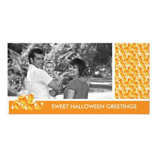 Saludos de Halloween de las pastillas de caramelo Plantilla Para Tarjeta De Foto