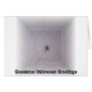 Saludos de Halloween del hilo de araña Tarjetas
