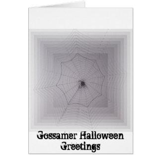 Saludos de Halloween del hilo de araña Felicitaciones