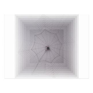 Saludos de Halloween del hilo de araña Postal