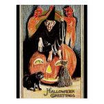 Saludos de Halloween del vintage del KRW Tarjeta Postal