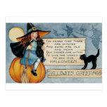 Saludos de Halloween del vintage Postal