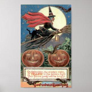 Saludos de Halloween Póster
