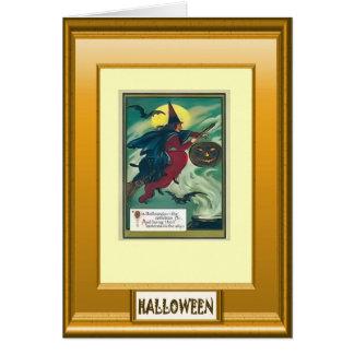 Saludos de Halloween Tarjeta De Felicitación