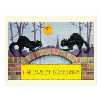 Saludos de Hallowe'en Tarjeta Postal