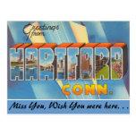 Saludos de Hartford Tarjetas Postales