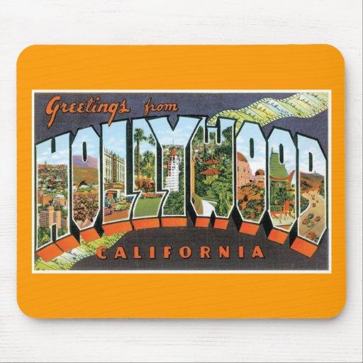 ¡Saludos de Hollywood! Alfombrilla De Ratones