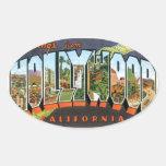 Saludos de Hollywood Calcomanías De Ovaladas