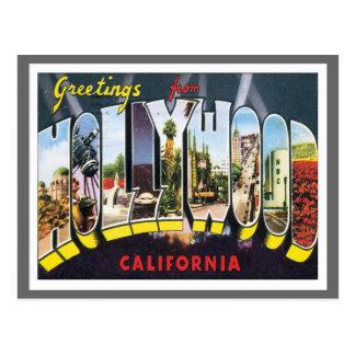 Saludos de Hollywood California Postales
