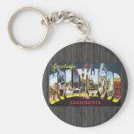 Saludos de Hollywood California, vintage Llaveros Personalizados