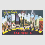 Saludos de Hollywood California, vintage Rectangular Altavoces