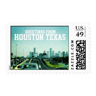 Saludos de Houston Tejas (sello)