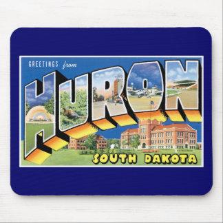 ¡Saludos de Huron, Dakota del Sur!  Retro Tapetes De Ratón