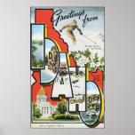 Saludos de Idaho, vintage Poster