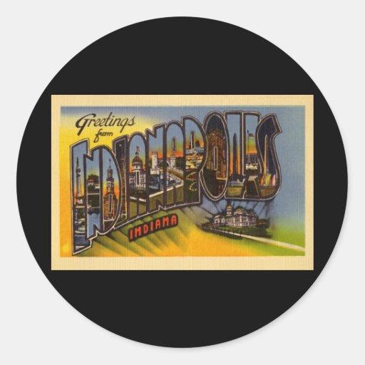 Saludos de Indianapolis Indiana Etiquetas