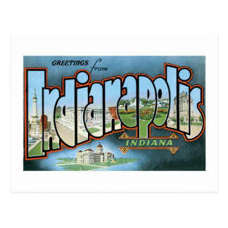¡Saludos de Indianapolis, Indiana! Postal
