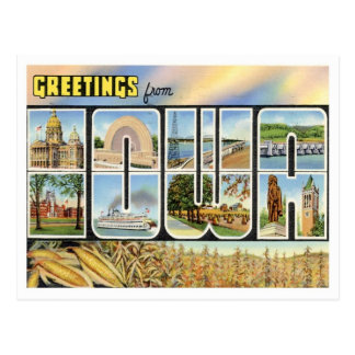 Saludos de Iowa Postal