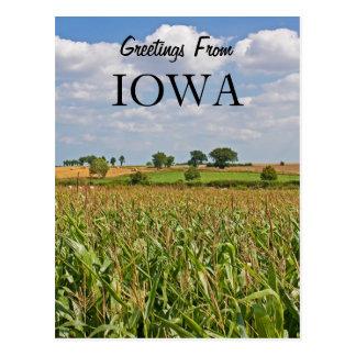 Saludos de Iowa Postales