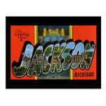Saludos de Jackson Michigan Postal