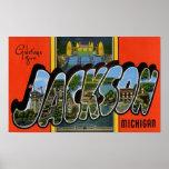 Saludos de Jackson Michigan Posters