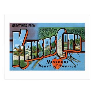 ¡Saludos de Kansas City! Tarjeta Postal