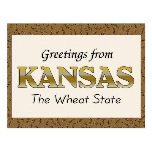 Saludos de Kansas Postales
