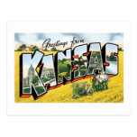 ¡Saludos de Kansas! Vintage Postales