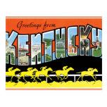 Saludos de Kentucky Tarjeta Postal