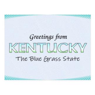 Saludos de Kentucky Tarjetas Postales