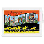 ¡Saludos de Kentucky! Tarjeton