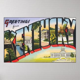 Saludos de Kentucky, vintage Posters