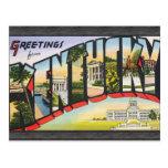 Saludos de Kentucky, vintage Tarjetas Postales